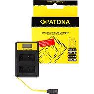 PATONA - Dual Fuji NP-W126  LCD,USB - vel - Akkumulátortöltő