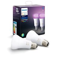 Philips Hue White and Color ambiance 9W E27 szett, 2 db - LED izzó