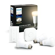 Philips Hue White 9W E27 kezdőcsomag - LED izzó