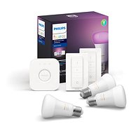 Philips Hue White and Color ambiance 9W E27 kezdőcsomag - LED izzó