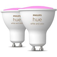 Philips Hue White and Color ambiance 5.7W GU10 szett, 2 db - LED izzó