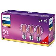 Philips LED classic 7-60W, E27 2700K, 3 db - LED izzó