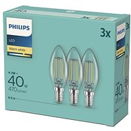 Philips LED classic 4,3-40W, E14 2700K, 3 db