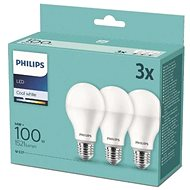 Philips LED 14-100W, E27 2700K, 3 db - LED izzó