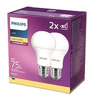 Philips LED 11-75W, E27 2700K, 2 db - LED izzó