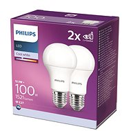 Philips LED 12,5-100W, E27 4000K, 2 db - LED izzó