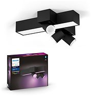 Philips Hue White and Color Ambiance Centris 3L Cross Ceiling fekete 50608/30 / P7 - Mennyezeti lámpa