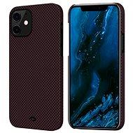 Pitaka MagEZ Black/Red Plain iPhone 12 - Mobiltelefon hátlap