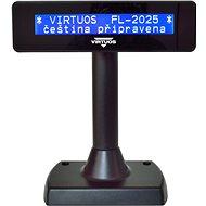 Virtuos LCD FL-2025MB 2x20 fekete - Vevőkijelző