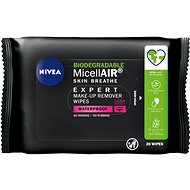NIVEA MicellAIR Expert Micellar Make-up Remover Wipes 20 db - Arctörlő kendő