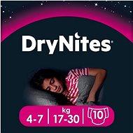 HUGGIES Dry Nites Medium Girls, 4-7 év (10 db) - Pelenka
