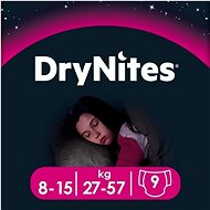 HUGGIES Dry Nites Large 8-15 years Girls (9 db) - Pelenka