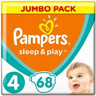 PAMPERS Sleep & Play JP méretét 4 Maxi (68 db) - Pelenka