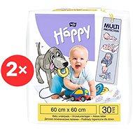 BELLA Baby Happy Pelenkázó alátét 60 × 60 cm, 2× 30 db - Pelenkázó alátét