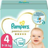 PAMPERS Premium Care pelenka 4 MAXI méret (104 db) - egy havi mennyiség - Pelenka