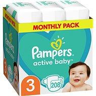 PAMPERS Active Baby-Dry 3 Midi (208 db) - Havi kiszerelés - Pelenka