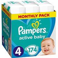 PAMPERS Active Baby-Dry méret 4 Maxi (174 db) - Havi csomagok - Pelenka