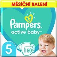 PAMPERS Active Baby-Dry 5 Junior (150 db) - Havi kiszerelés - Pelenka