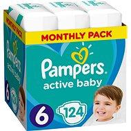 Pampers Baby-Dry 6-os méretben (Extra Large) - 124 db, havi csomag - Pelenka