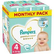 Pampers Premium Care 4-es méret (Maxi) 168 db, havi kiszerelés - Pelenka