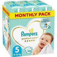 Pampers Premium Care 5-ös méret Junior (136 db), havi kiszerelés - Pelenka