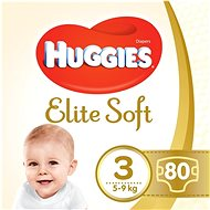 HUGGIES Elite Soft, 3-as méret (80 db) - Pelenka