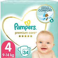 PAMPERS Premium Care, 4-es méret (34 db) - Pelenka