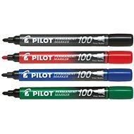 Dekormarker PILOT Permanent Marker 100 1mm - 4 színű szett - Popisovač