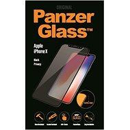PanzerGlass Premium Privacy képernyővédő az Apple iPhone X számára, fekete - Képernyővédő
