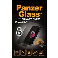 PanzerGlass Standard Privacy képernyővédő az Apple iPhone 6 / 6s / 7/8 számára, áttetsző