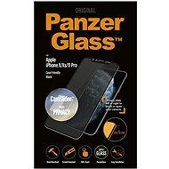 PanzerGlass Edge-to-Edge Privacy Apple iPhone X/XS/11 Pro készülékhez, fekete - CamSlider-rel
