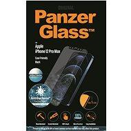 PanzerGlass Edge-to-Edge Antibacterial Apple iPhone 12 Pro Max-hoz Anti-Glare réteggel, fekete - Képernyővédő