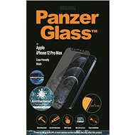 PanzerGlass Edge-to-Edge Antibacterial Apple iPhone 12 Pro Max-hoz Anti-BlueLight réteggel, fekete - Képernyővédő
