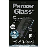 PanzerGlass Edge-to-Edge Antibakteriális Apple iPhone 12 Pro Max fekete Swarowski CamSli-vel - Képernyővédő