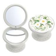 Telefontartó PopSockets PopGrip Gen.2, PopMirror Midsummer, tükörrel, fehér, virágokkal