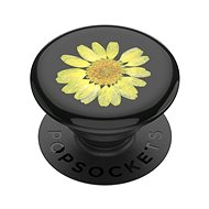 Telefontartó PopSockets PopGrip Gen.2, Préselt virág sárga százszorszép, sárga virág gyantába ágyazva