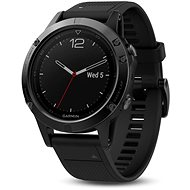 Garmin Fenix 5 Sapphire Black Optic Black band - Okosóra