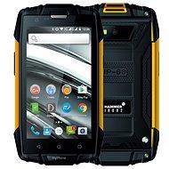 MyPhone Hammer Iron 2 narancssárga-fekete - Mobiltelefon