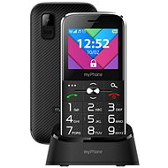 MyPhone Halo C Senior fekete - Mobiltelefon