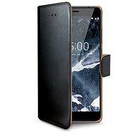 CELLY Wally Nokia 5.1/Nokia 5 (2018) készülékhez fekete - Mobiltelefon tok