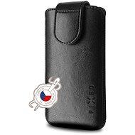 Mobiltelefon tok FIXED Sarif záró PU bőrrel, 6XL méret + fekete - Pouzdro na mobil