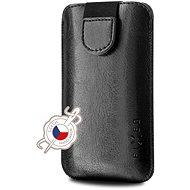 Mobiltelefon tok FIXED Soft Slim PU bőr fedéllel, 6 XL-es méret + fekete - Pouzdro na mobil