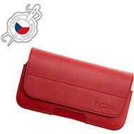 FIXED Posh valódi marhabőrből, vízszintes, méret: 5XL+, piros - Mobiltelefon tok