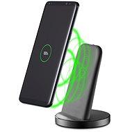 Cellularline WIRELESS FAST CHARGER STAND USB-C-vel, fekete - Vezeték nélküli töltő