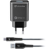 Cellularline Qualcomm® Quick Charge™ 3.0 18W - fekete - Töltő szett