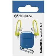 Cellularline Dynamic tok fülkampókkal Apple AirPods 1 & 2 fülhallgatóhoz - kék - Tok