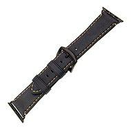 FIXED Berkeley - Apple Watch készülékhez, 42 és 44 mm, fekete csattal, L méretű koromszürke - Szíj