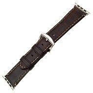 FIXED Berkeley - Apple Watch készülékhez, 42 és 44 mm, ezüst színű barna csattal - Szíj