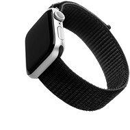 FIXED Nylon Strap Apple Watch 44mm/ Watch 42mm okosórához - fekete - Szíj