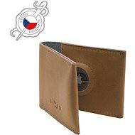 FIXED Wallet for AirTag valódi marhabőrből - barna - Pénztárca